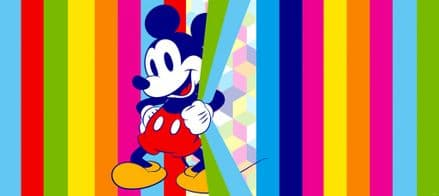 Mickey Mouse Rainbow Panoramic mural wallpaper 202x90cm