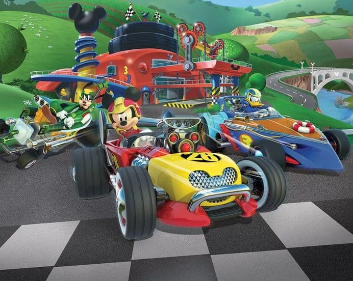Mickey Mouse Roadster paper wallpapers | Homewallmurals