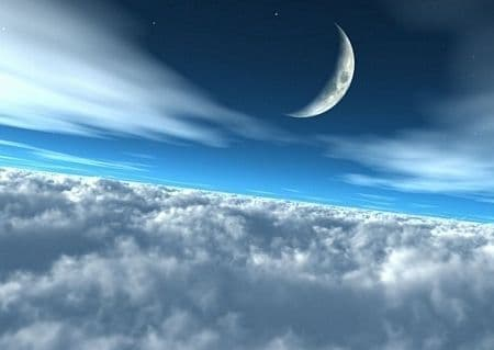 Moon over clouds paper wallpapers   Online store