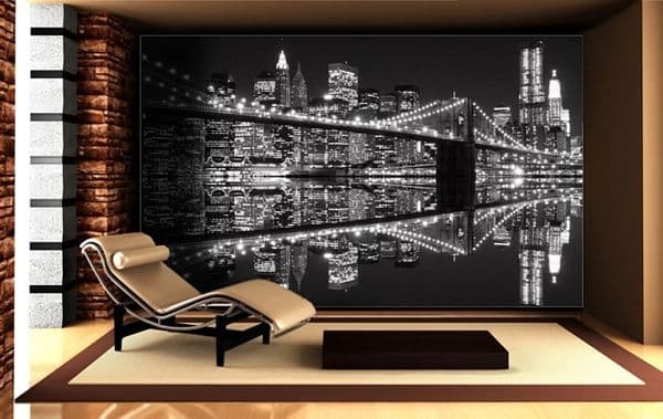 New York Lights Black&White wallpaper murals by Homewallmurals