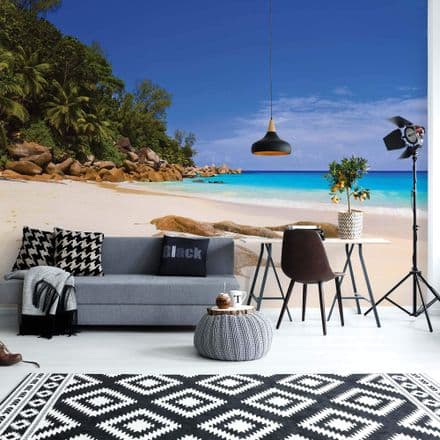 Palms on the Beach Home wallpaper mural Easy to Install 144x100in