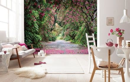 Path in the park wall mural wallpaper