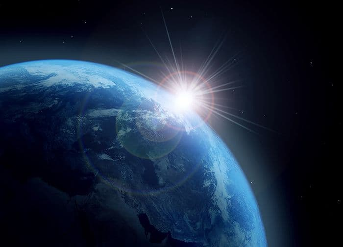 Planet earth and sun paper wallpaper  Online store