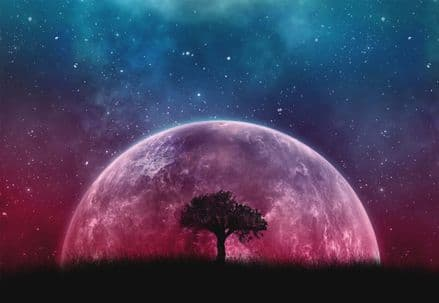 Purple Planet paper photo wallpaper
