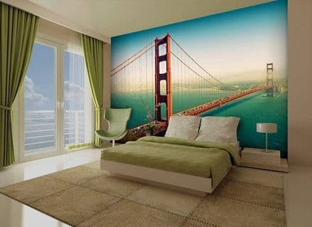 San Francisco paper wallpaper mural