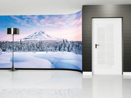 Snowy Mountain giant wall mural wallpaper