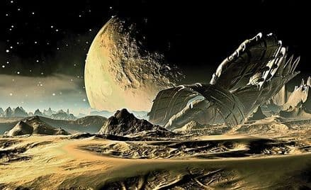 Space - Alien Planet wall mural wallpaper