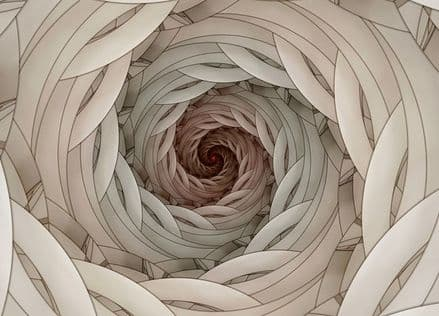 Spiral fractal design paper wallpaper