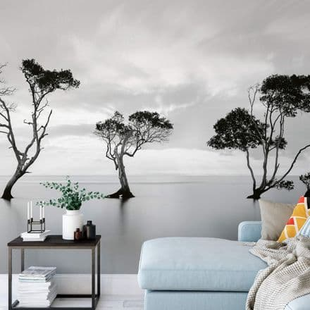 Trees in the Still Water wall mural wallpaper Premium