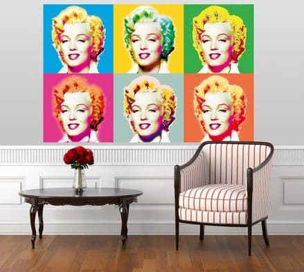 Visions of Marilyn Monroe giant wall art wall mural poster