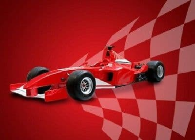 Wall mural RED SPORTS CAR - FORMEL ONE STYLE photo wallpaper Kids wall decor