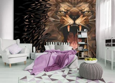 Wall mural Roaring abstract Lion