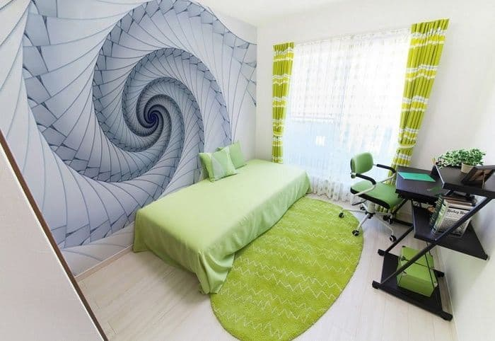 Abstract spiral design giant wall murals   Allwallpapers
