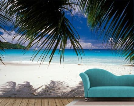 Wall mural wallpapers white sandy beach