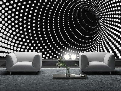 WALLPAPER MURAL PHOTO Black abstract GIANT WALL DECOR PAPER POSTER FOR BEDROOM