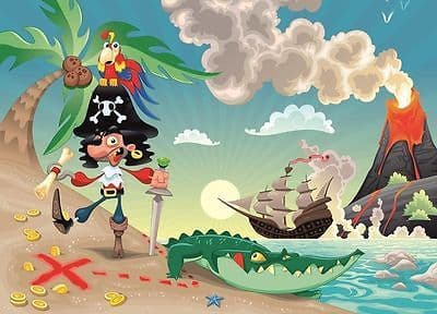 WALLPAPER MURAL PHOTO Pirate ship WALL DECOR PAPER GIANT POSTER children nursery