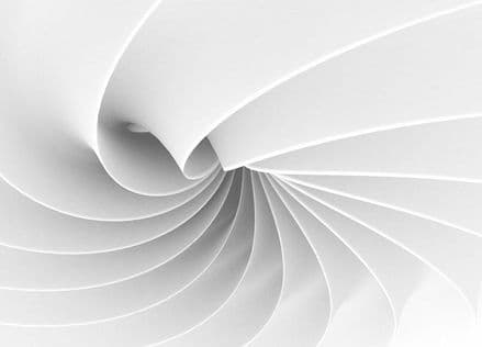 White abstract composition giant wall mural
