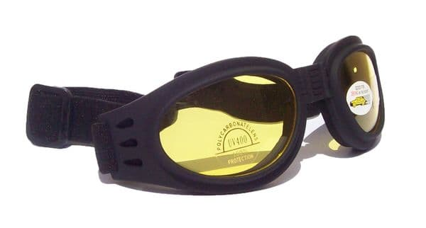Blaze Folding Pocket Goggles - Yellow Lens