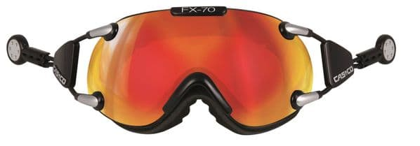 Casco FX70 Carbonic Magnetic Link Black-Orange Ski Goggles