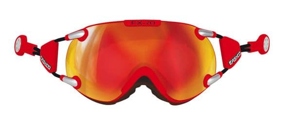 Casco FX70 Carbonic Magnetic Link Signal Red-Orange Ski Goggles