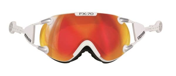 Casco FX70 Carbonic Magnetic Link White-Orange Ski Goggles