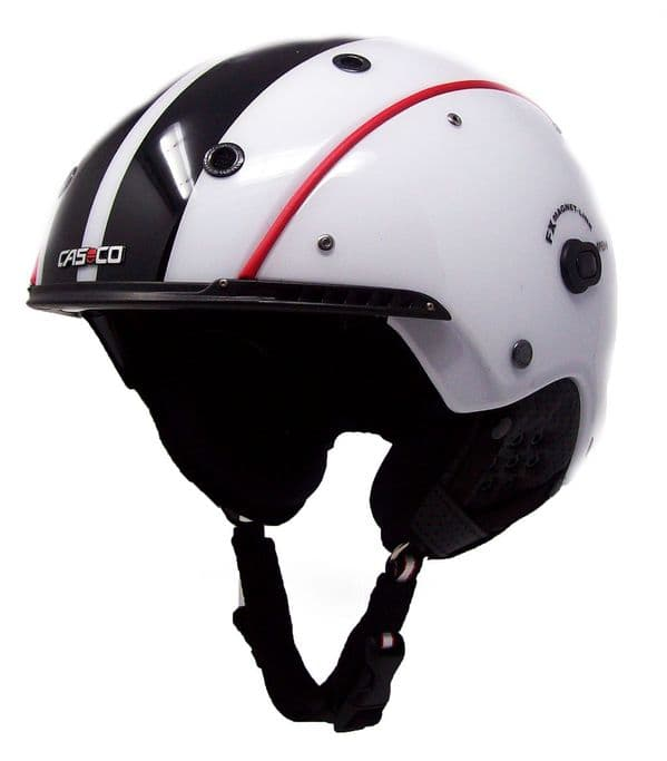 Casco SP-3 Airwolf  Competition White/Red/Black Ski Helmet