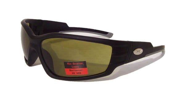 Curv HD High Definition Biker Sunglasses | Green Lens