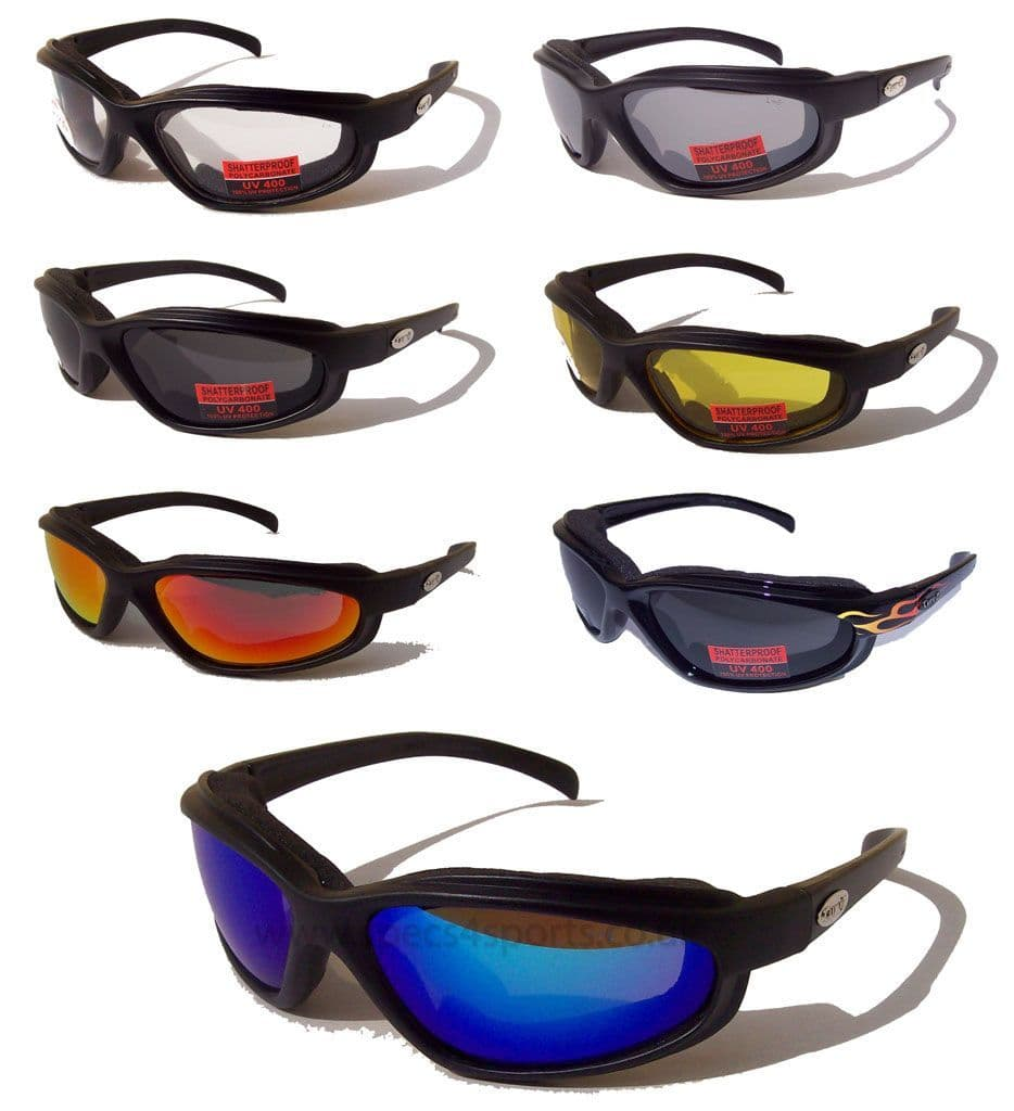 Buy CURV-Z foam padded sunglasses for Skydiving | Motorcycling  @ Specs4sports.co.uk