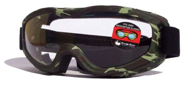 Evader 2 Over Glasses Goggles- Camo - Clear Lens