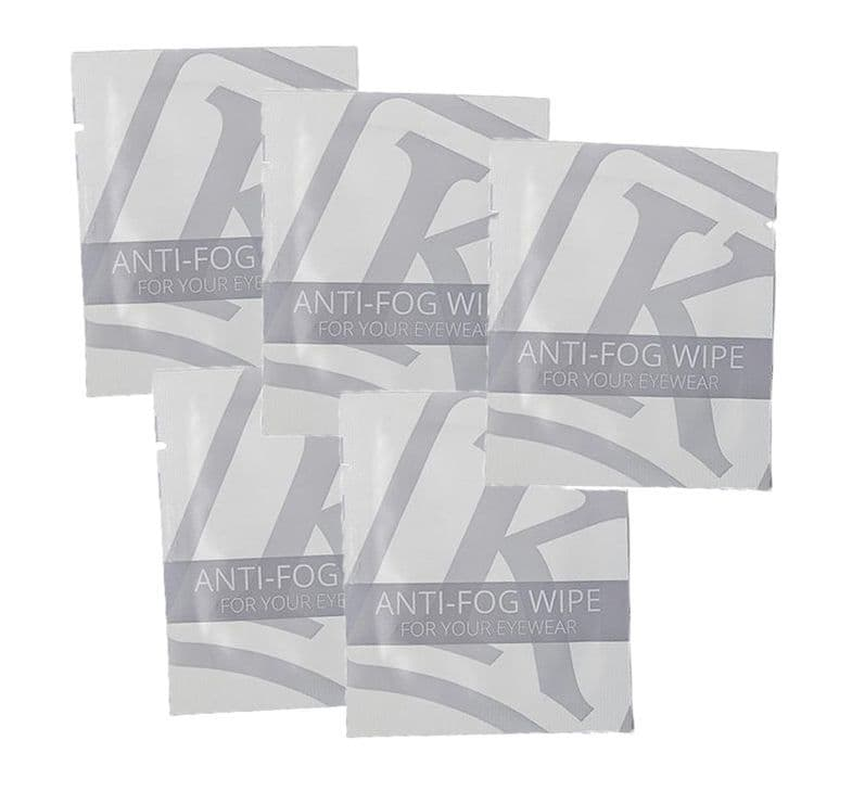 Kroops Anti-Fog wipes for goggles, glasses and face shields | 5 Pack | Buy online @ Specs4sports.co.uk