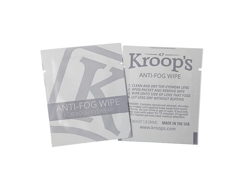 Kroops Anti-Fog wipes for goggles glasses and face shields | Buy online @ Specs4sports.co.uk