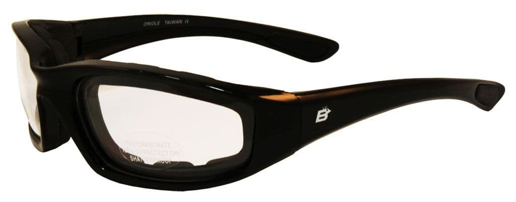 Oriole Foam Padded Sunglasses - Photochromic Lens for Skydiving | Motorcycling | Dry Eye | Cycling @ Specs4sports