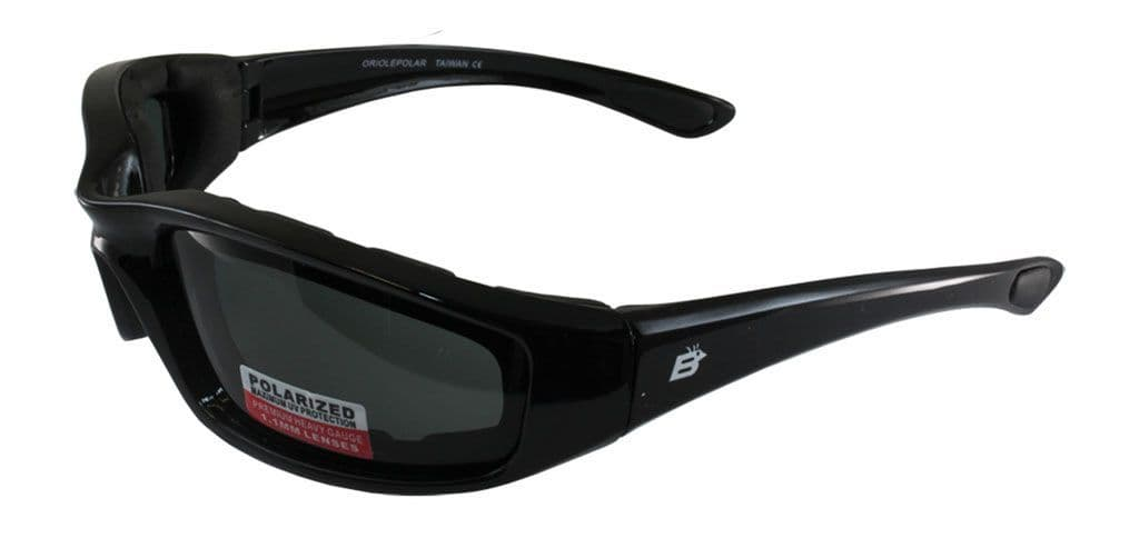 Oriole Foam Padded Sunglasses - Polarised Lens for Skydiving | Motorcycling | Dry Eye | Cycling @ Specs4sports