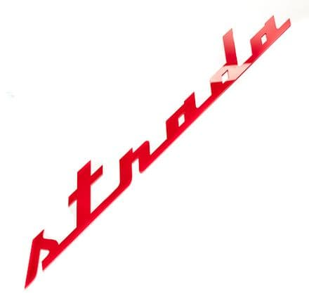 LA MARZOCCO Strada CUSTOM 420mm ACRYLIC LOGO (RED)