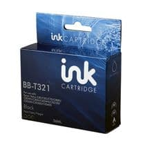 Compatible Epson C13T03214010 (T0321) Black Ink Cartridge