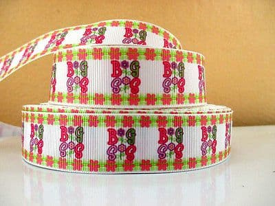 1 METRE BIG SIS RIBBON SIZE 7/8 INCH BOWS HEADBANDS BABY HAIR BIRTHDAY CAKE
