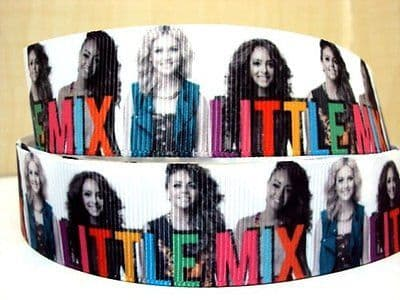 1 METRE LITTLE MIX RIBBON SIZE 1 INCH BOWS HEADBANDS BABY HAIR BIRTHDAY CAKE #103