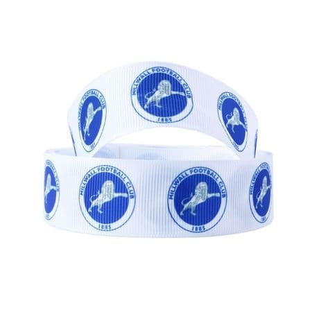 1 METRE MILLWALL FOOTBALL RIBBON SIZE INCH HAIR BOWS HEADBANDS BIRTHDAY CAKE