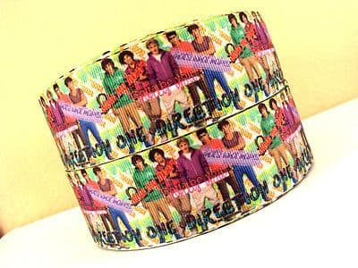 1 METRE NEW 1D ONE DIRECTION RIBBON SIZE 1.5 INCH BOWS HEADBANDS BABY HAIR CAKE
