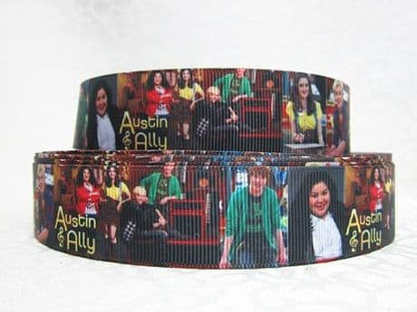 1 METRE OF AUSTIN AND ALLY RIBBON SIZE 1 INCH