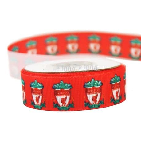 1 METRE OF NEW RED LIVERPOOL FOOTBALL CLUB RIBBON SIZE INCH HEADBANDS CLIPS BOWS CARD MAKING PLAQUES