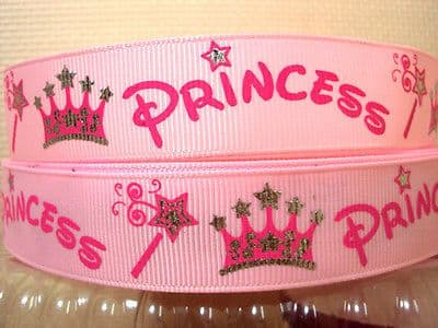 1 METRE PINK PRINCESS RIBBON SIZE 7/8 HEADBANDS HAIR BOWS BIRTHDAY CAKE
