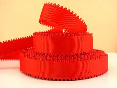1 METRE RED WAVE EDGE GROSGRAIN RIBBON SIZE 7/8 BOWS HEADBANDS HAIR CAKE