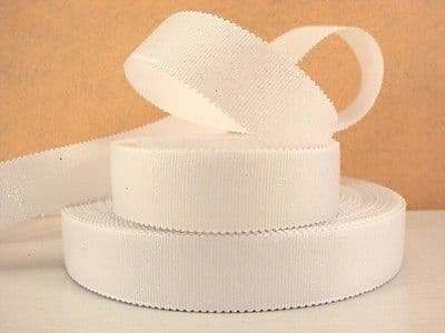 1 METRE WHITE WAVE EDGE GROSGRAIN RIBBON SIZE 7/8 BOWS HEADBANDS HAIR
