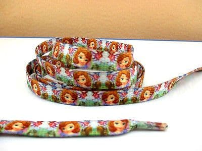 1 PAIR OF SOFIA THE 1ST PRINCESS DOUBLE SIDED PRINTED SHOE LACES LOOK WAS £1.49 NOW 99P