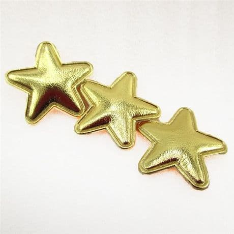 10 x 1 INCH GOLD STAR PADDED APPLIQUE EMBELLISHMENT HEADBANDS HAIR BOWS CARD MAKING