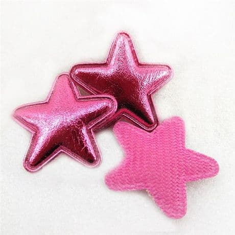10 x 1 INCH PINK STAR APPLIQUE EMBELLISHMENTS HEADBANDS BOWS CARD MAKING