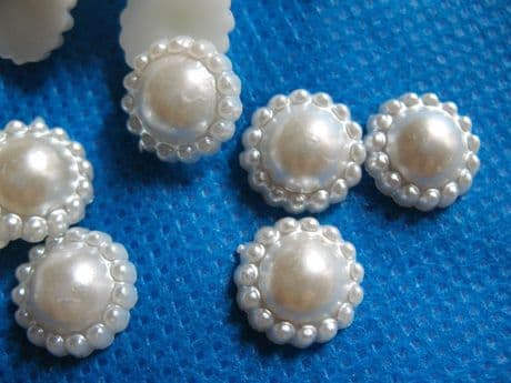 10 x 11MM FLAT BACK PEARL IVORY CREAM FLAT BACK HEADBAND PERFECT FOR BOW CENTRES