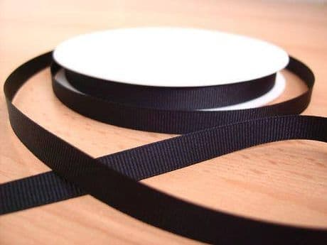 3 YARDS OF SIZE 3/8 BLACK GROSGRAIN RIBBON