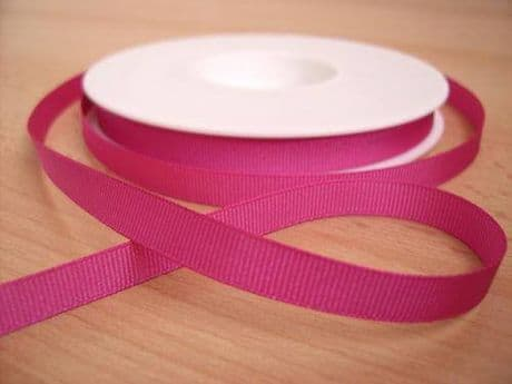 3 YARDS OF SIZE 3/8 BRIGHT PINK GROSGRAIN RIBBON